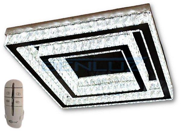 Plafon Quadrado 40×60cm Cristal Led 48w 3000k4000k 6000k 3600lm Controle Bivolt