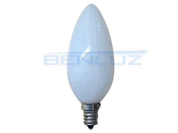 Lâmpada Vela LED 40W leitosa para Lustre Branco Quente