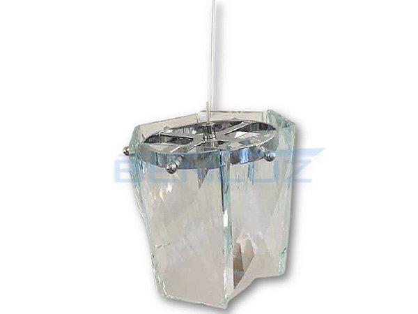 Pendente 15×15cm Hexagono Transparente E14×1