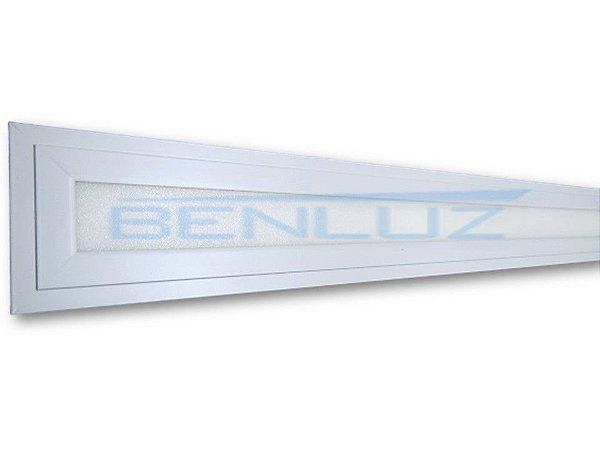 Painel Plafon LED 24W 8,5x122 Retangular embutir Branco Frio