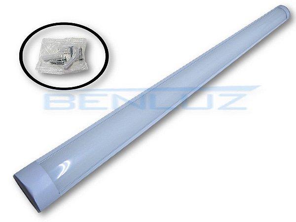 Luminária LED Linear de Sobrepor 40W Branco Frio 100cm