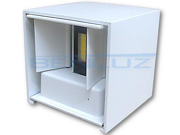 Luminária LED Arandela 10W cubo Regulável 2 Fachos Branco Frio 6000K