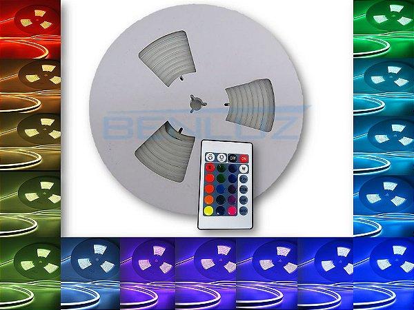 Mangueira Neon de LED Dupla 5 Metros RGB com controle 12V