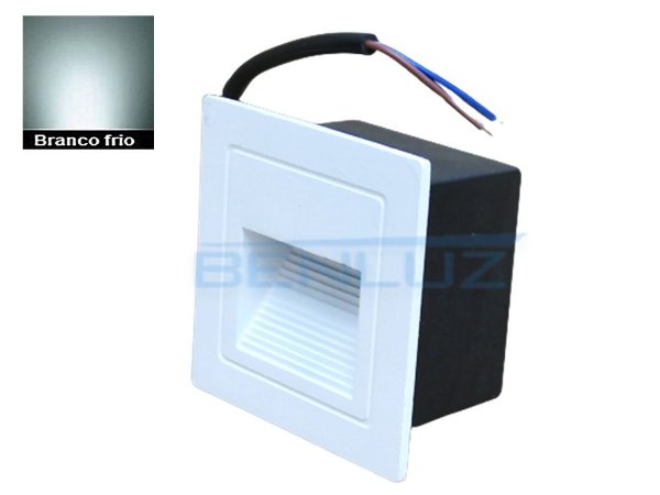 Balizador Externo de embutir Branco de LED 2W Branco Frio Bivolt