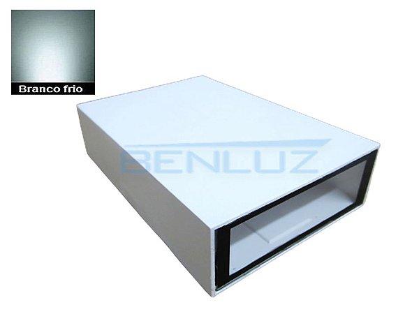Arandela Retangular 4W 2 Fachos de luz Branco Frio Bivolt