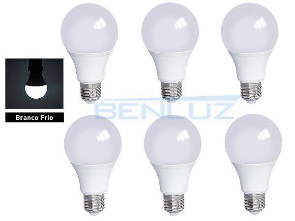 KIT 6 Lâmpadas Bulbo LED 7W Branco Frio - PROMOÇÃO