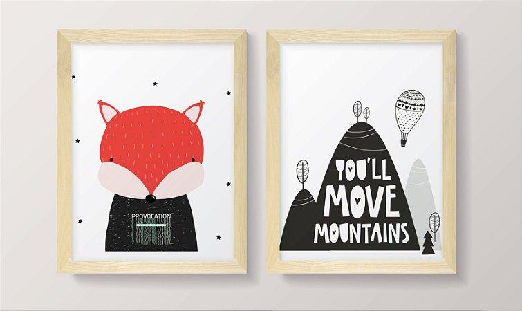 Conjunto de Quadros - Move Montanhas