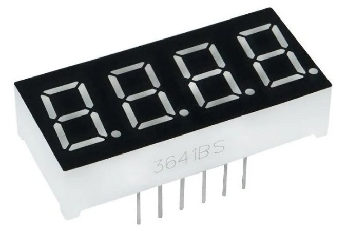 Display 7 Seg. (4 Dígitos) - 0,36 Pol. Catodo Comum, (Kit com 5 Peças)