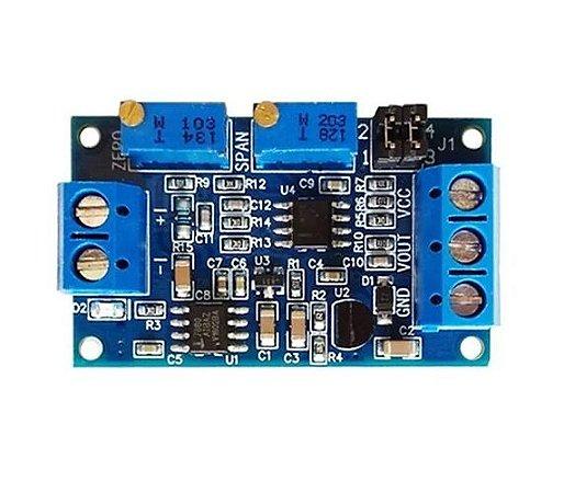Conversor de Corrente 4 a 20mA P/ 0-3,3V, 0-5V e 0-10V