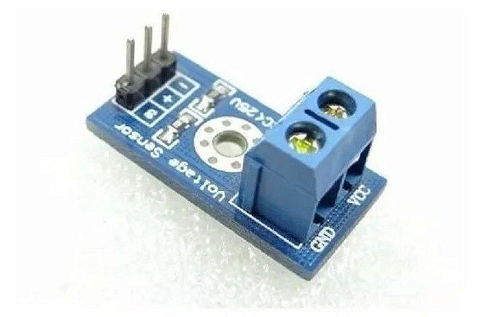 Sensor de Tensãoe  Voltagem 0-25 Vdc Arduino Pic
