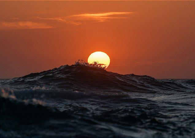 Fotografia aquática do nascer do sol