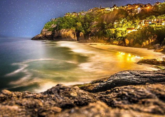 Noite estrelada na Joatinga/RJ