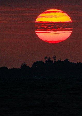 Pôr do sol em Mentawaii