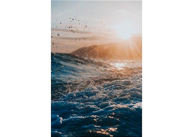 Pôr do sol e espumas