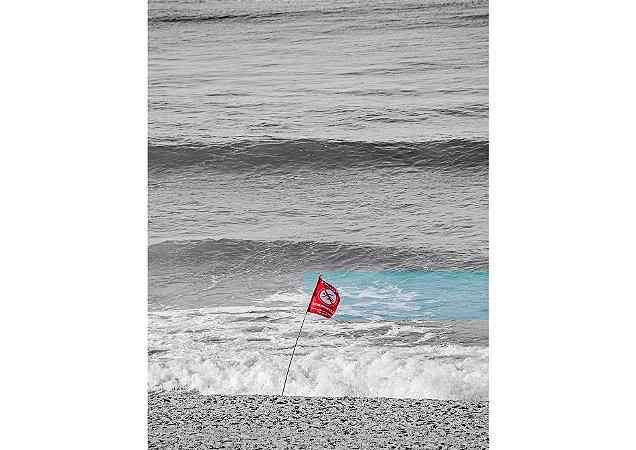 Coleção de cores com preto e branco com bandeira