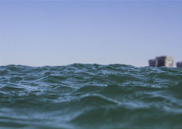 Detalhes na ondulação do mar
