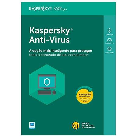 Kaspersky Anti-Virus - 1 dispositivo, 1 ano - (Frete Grátis - Envio Digital)