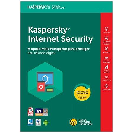 Kaspersky Internet Security - 3 Dispositivos, 1 ano - (Frete Grátis - Envio Digital)
