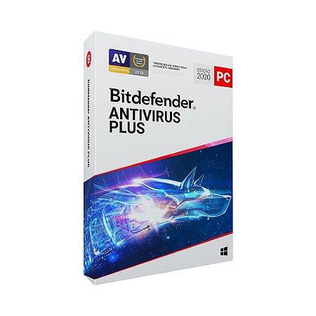 Bitdefender Antivirus Plus 2020 - 5 dispositivos, 1 ano (Frete Grátis - Envio Digital)