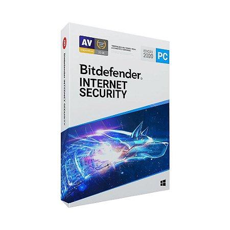 Bitdefender Internet Security 2020 - 5 dispositivos, 1 ano (Frete Grátis - Envio Digital)