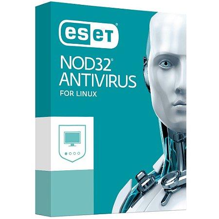 ESET NOD32 Antivírus para Linux - 3 dispositivos - 1 Ano - 2020 - (Frete Grátis - Envio Digital)