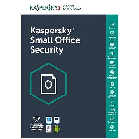 Kaspersky Small Office Security 7 - 15 dispositivos +15 grátis - 2 file Server + 15 Password Managers - 1 ano - (Frete Grátis - Envio Digital)