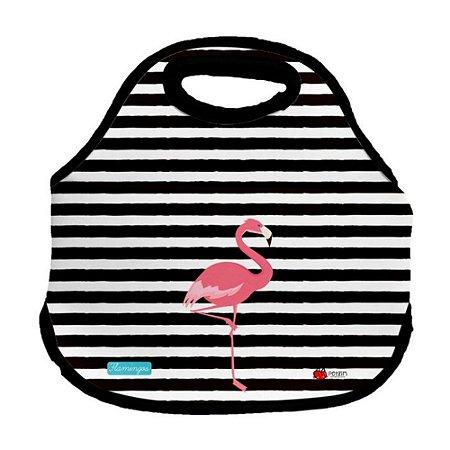 Bolsa Lancheira Flamingos