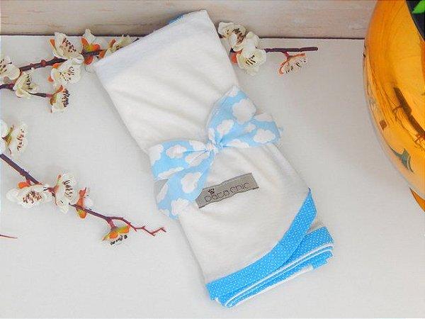 Lençol Núvem Azul - Pata Chic