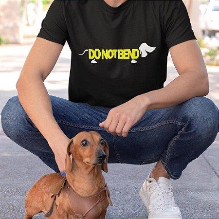 Camiseta Cachorro Salsichinha, Não Dobrar