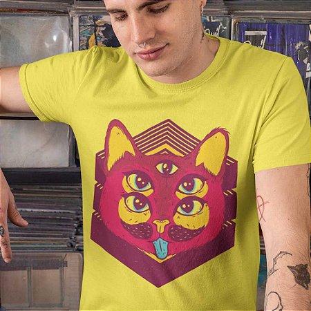 Camiseta Gato Psicodélico