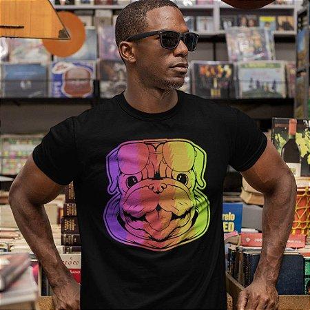 Camiseta Bulldog Colorido