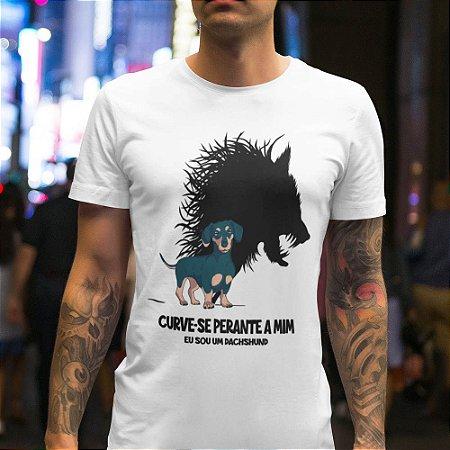 Camiseta Curve-se Perante a Mim, Eu sou um Dachshound