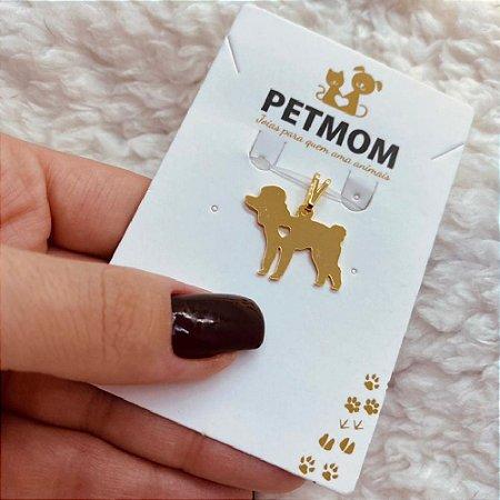 Pingente Poodle folheado em ouro 18k