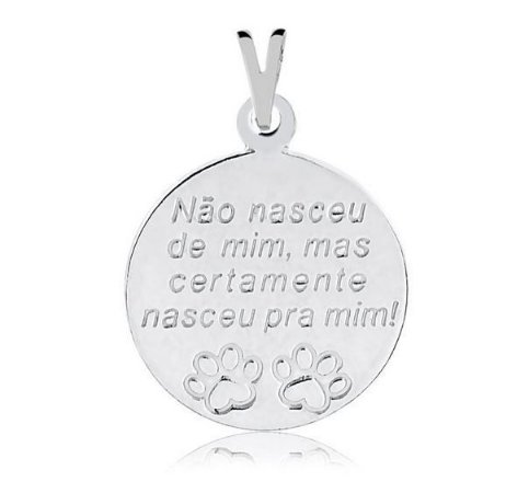 Pingente não nasceu de mim mas certamente nasceu para mim em prata 925