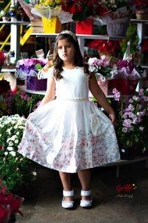 Vestido Branco Florido