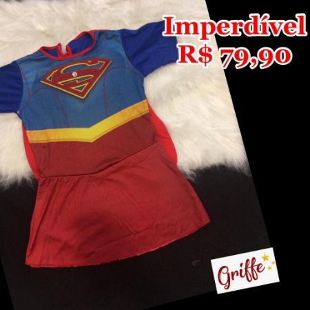 Vestido Fantasia Super Girl