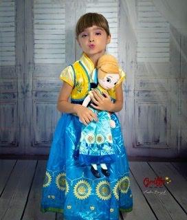 Vestido Frozen ( boneca opcional)