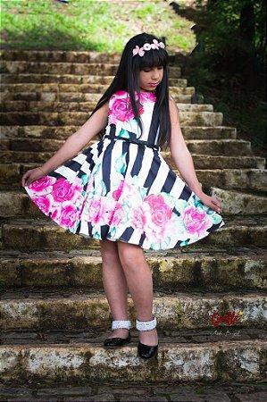 Vestido Rosas Luluzinha