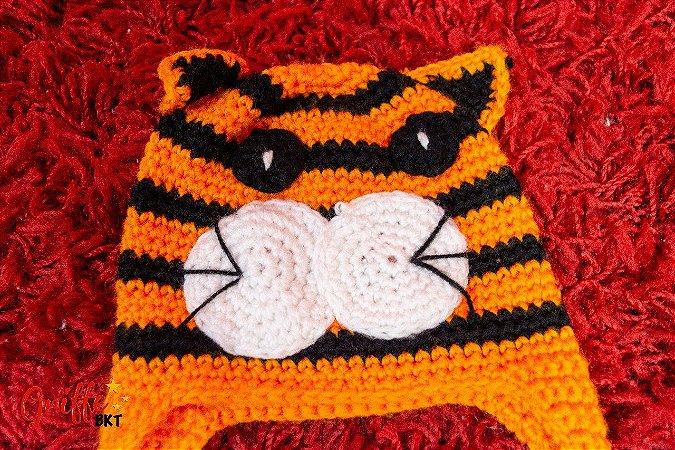 Touca Tricô Tigre