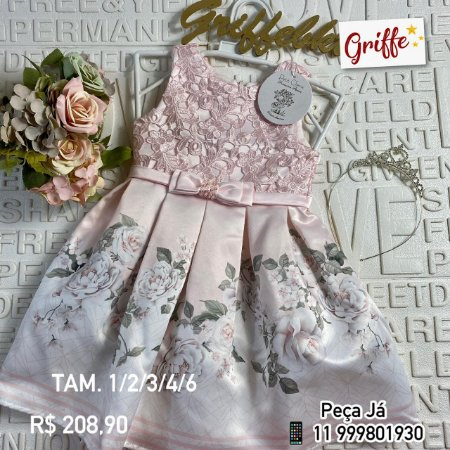 Vestido Romantic Garden Petit Cherie
