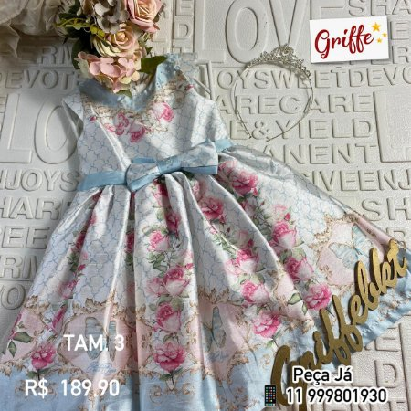 Vestido Petit Cherie Florido