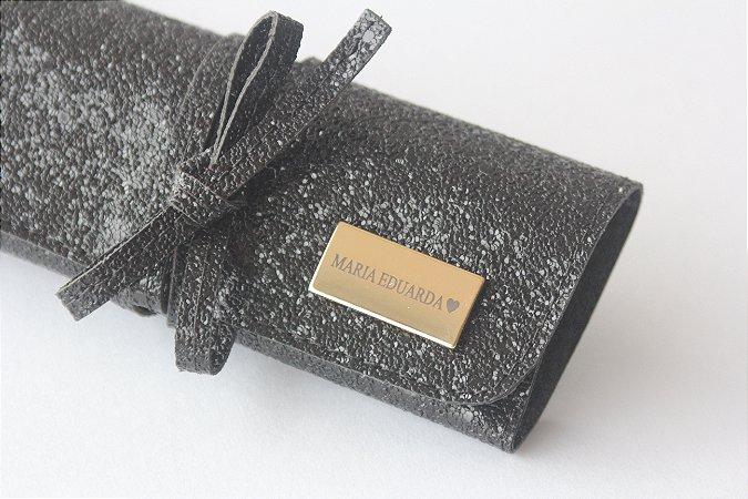 Porta jóias preto glitter