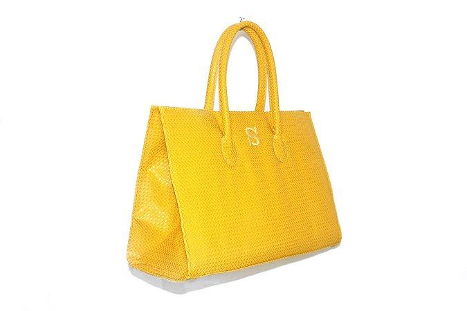 Bolsa modelo Fádia amarela personalizada