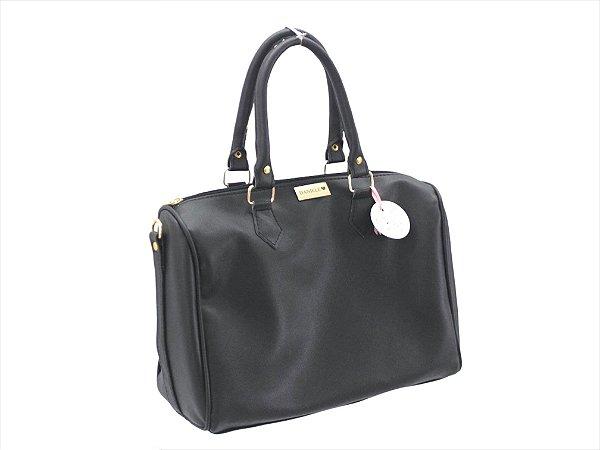 Bolsa baú + Necessaire preta ferragens douradas personalizadas (A necessaire é presente)