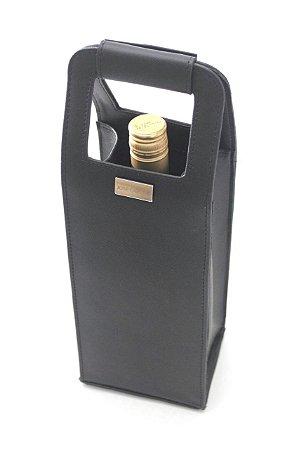 Porta vinho preto personalizado