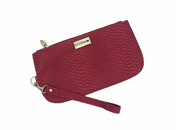 Bolsinha de mão croco vermelha personalizada