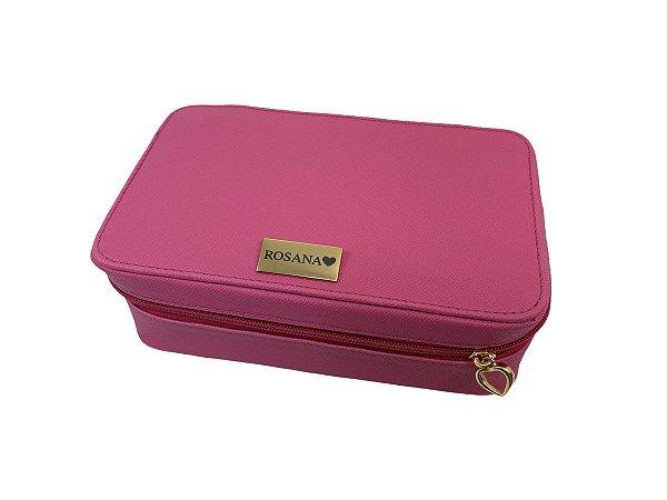 Necessaire modelo Letícia M pink personalizada
