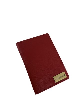 Porta passaporte individual vinho personalizado