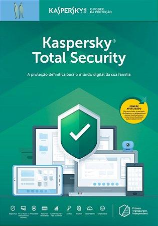 Kaspersky Total Security 5 Dispositivos + 2 Password Manager + 1 Safe Kids 1 Ano BR Download
