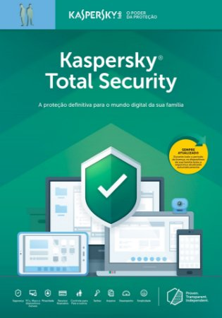 Kaspersky Total Security 1 Dispositivo + 1 Password Manager + 1 Safe Kids 1 Ano BR Download